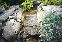 tumbling water feature